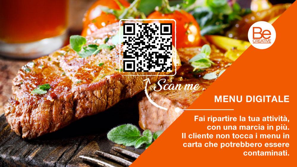 banner menu digitale qr code